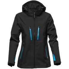 Куртка софтшелл с водонепроницаемыми молниями женская Stormtech Patrol, черная/ синяя фото