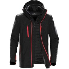 Куртка-трансформер с капюшоном мужская Stormtech Matrix, чёрная/ красная фото