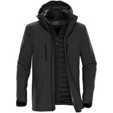 Куртка-трансформер с капюшоном мужская Stormtech Matrix, серая/ чёрная фото
