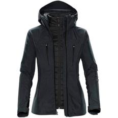 Куртка-трансформер с капюшоном женская Stormtech Matrix, серая/ чёрная фото