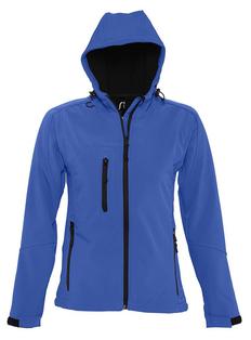 Куртка с капюшоном женская Sol's Replay Women, ярко-синяя фото