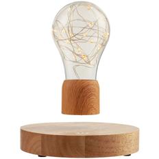 Лампа левитирующая FireFly Lights деревянная, крафт / прозрачная фото