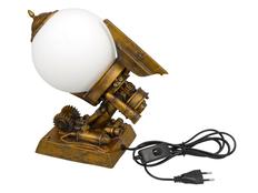 Лампа настольная, золотой фото