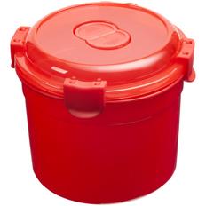 Ланч бокс Barrel Roll, круглый, красный фото