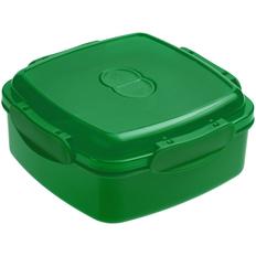 Ланчбокс Cube, квадратный, зеленый фото