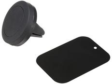 Держатель для телефона магнитный, черный фото