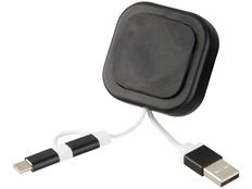 Держатель для телефона магнитный, Avenue Chariot с кабелем 3 в 1, черный фото