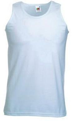 Майка безрукавка мужская Fruit of the Loom Valueweight Athletic Vest 160, белая фото