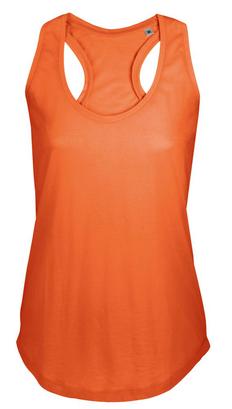 Майка женская Sol's Moka 110, оранжевая фото