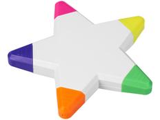Маркер в форме звезды Solvig, 5 цветов, белый фото