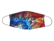 Маска для лица многоразовая с полноцветной сублимации, разноцветная фото