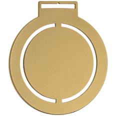 Медаль металлическая Steel Rond, золотистая фото