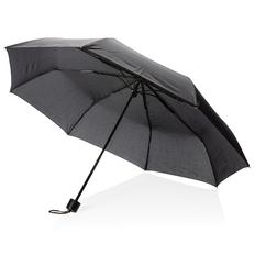 """Зонт складной механический с чехлом-сумкой XD Collection 21"""", черный фото"""