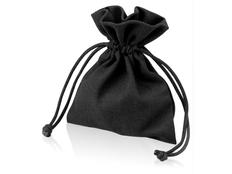 Мешочек подарочный маленький, черный фото