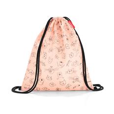 Мешок детский Reisenthel mysac Cats and Dogs Rose, розовый фото