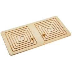 Межполушарная доска Wood Games, квадратная спираль фото