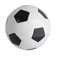 Мяч футбольный надувной PLAYER, черный, белый фото
