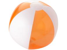 Мяч надувной пляжный, прозрачный оранжевый фото