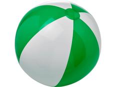 Мяч пляжный Bora, зеленый / белый фото