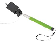 Монопод проводной Wire Selfie, черный/салатовый фото