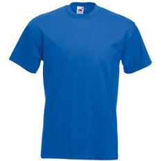 Футболка мужская Fruit of the Loom Super Premium T 190, ярко-синяя фото
