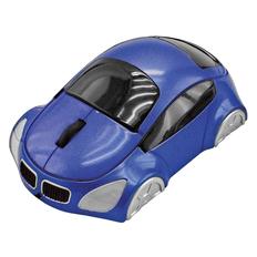 Мышь проводная оптическая Автомобиль, синяя фото