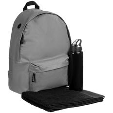 Набор Active, ver.2: рюкзак Rider, полотенце Odelle среднее, спортивная бутылка Moist, черный / серый фото