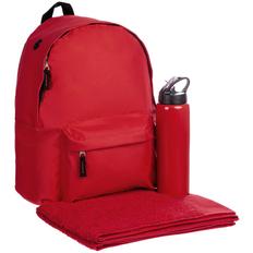 Набор Active, ver.2: рюкзак Rider, полотенце Odelle среднее, спортивная бутылка Moist, красный фото