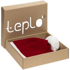 Набор teplo Amuse: шапка, шарф, красный/ белый фото