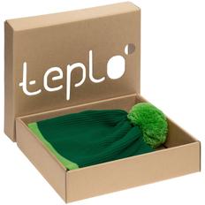 Набор teplo Amuse: шапка, шарф, зеленый фото