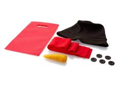 Набор аксессуаров для снеговика, черный/ красный/ оранжевый фото
