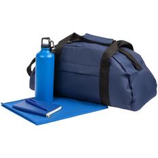 Набор Back on Track: спортивная сумка, полотенце, ежедневник, бутылка, ручка, синего / зеленый фото