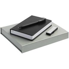 Набор Addendum: ежедневник Basis Mini, ручка шариковая Prodir DS3 TFF, флешка Ferrum, 8 Гб, черный фото
