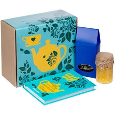 Набор «Бодрый»: чай «Таежный сбор», варенье Jammy, книга, голубой / синий фото