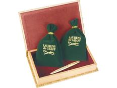 Набор Laurens de Graff Бриг: портмоне мужское, визитница, ручка шариковая, зеленый / золотой фото