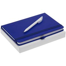 Набор Buffer Antibacterial: блокнот Buffer с антибактериальным покрытием, ручка шариковая Prodir DS3 TPP, синий фото