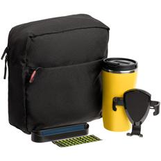 Набор Buggy: термостакан Underway, держатель для телефона Buddy Holdy, несессер Locus, парковочная визитка Litera, черный / желтый фото