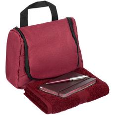 Набор Business Travel: несессер Unit Simon, полотенце Embrace, блокнот Convex Mini, ручка шариковая Popular, бордовый фото