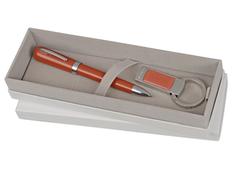 Набор: ручка шариковая и брелок с USB-флешкой на 4 Гб фото