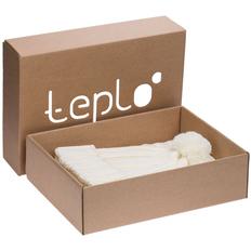 Набор teplo Chain: шапка, шарф, молочно-белый фото
