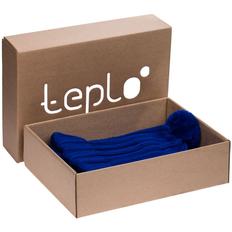 Набор teplo Chain: шапка, шарф, ярко-синий фото