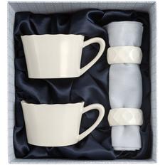 Набор чайный Diamante Bianco на 2 персоны, белый фото