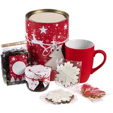 Набор чайный Holly Jolly: кружка, чай, варенье, печенье, красный фото