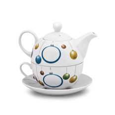 Набор чайный Новогоднее настроение, белый фото