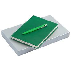 Набор Charme: ежедневник Charme, ручка шариковая Pin Soft Touch, зеленый фото