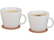 Набор чашек и костеров Hartley, белый, коричневый фото