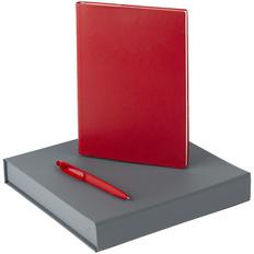 Набор Chillout: ежедневник недатированный, ручка шариковая, красный фото