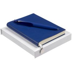 Набор Chillout Mini: ежедневник Chillout Mini, ручка шариковая Prodir DS8 PRR-Т Soft Touch, синий фото