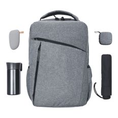 Набор City Nightfall в рюкзаке, серый меланж фото