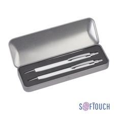 Набор CPen Ray: ручка шариковая металлическая, карандаш механический, белый фото